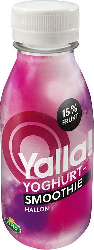 Yoggi® Yalla yoghurt-smoothie hallon