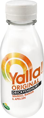 Yoggi® Yalla Drickyoghurt mango banan apel