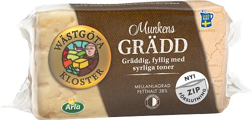 Wästgöta Kloster® Munkens Grädd ost