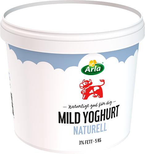 Arla Ko® Mild yoghurt naturell 3% hink