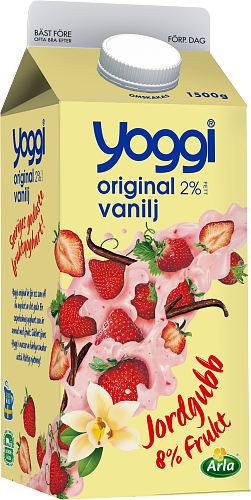Yoggi® Original yoghurt jordgubb & vanilj