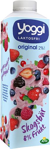 Yoggi® Original laktosfri yoghurt skogsbär