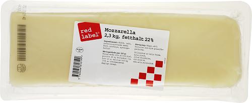 Red Label® Mozzarellafilé ost 22%