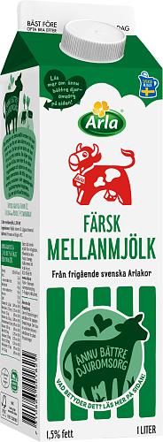 Arla Ko® Färsk mellanmjölk 1,5%