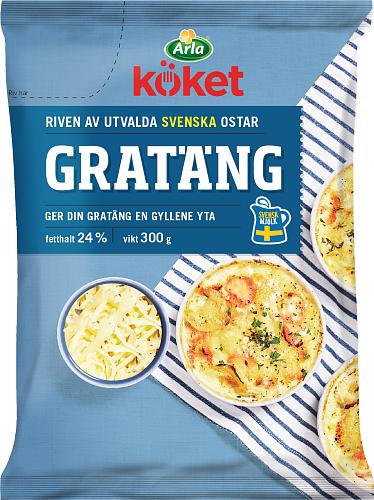 Arla Köket® Riven ost gratäng 24%
