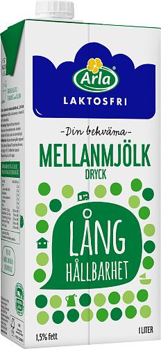 Arla® LF m mjölkdr m lång hållbarhet 1,5%