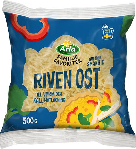 Arla® Familjefav Svensk riven ost