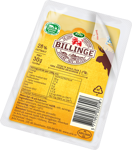 Arla Ko® Billinge skivad ost portion