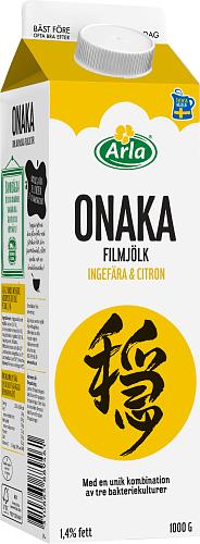 Arla® Onaka filmjölk ingefära & citron