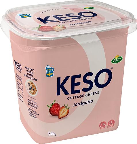 KESO® Cottage cheese jordgubb 2,9%